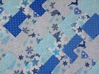CHRISTMAS NORDIC BLUE ~ COTTON FABRIC PATCHWORK SQUARES PIECES CHARM PACK