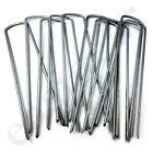 Metal Galvanised U Pins Artificial Grass Mesh Turf Mat Pegs Staples Garden Weed