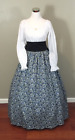 Blue Civil War Victorian Renaissance Southern Belle Colonial Dress Gown Costume