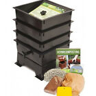 Worm Composting Bin Compost Bins 3 Tray Composter Fertilizer  Vermicomposting