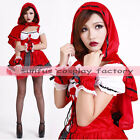high quality Little Red Riding Hood Lolita Maid Sexy Dress Red  cosplay costume