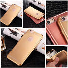 Ultra Thin Glossy TPU Soft Rubber Shockproof  Bumper Case Cover For iPhone 5 6+