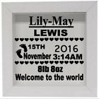 Personalised Baby Birth frame decal - Vinyl sticker for box frame etc