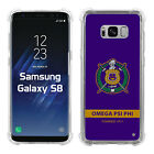 Omega Psi Phi Fraternity Galaxy S8 Phone Case Clear