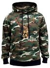 Men's Mossy Oak Deer Camo Hoodie Sweater Hunting Outdoors Wildlife Country Beast