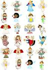 24 Mixed Christmas Angels Large Sticky White Paper Stickers Labels NEW