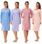 Ladies Nightwear Cotton FLORAL Printed Long Sleeve Women Nightshirt M to 2XL