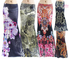 Floral Paisley Boho Sublimation high waist long maxi skirt S/M/L/XL1XL/2XL/3XL
