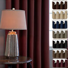 Blackout Non Chemical Coating Thermal Insulated Eyelet Top Curtains 213cm (l)