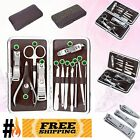 12pcs Nail Care Cutter Cuticle Kit Set Beauty Pedicure Clippers Manicure Tool UK