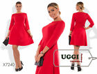 Beautiful Woman Dress Knitted fabric Above Knee 3/4 Sleeve Casual- Plus size