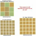 """50 - 3/4"""" Venetian Tan Glass Mosaic Tiles for your Project (Pick you Group) #1"""
