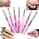 7PCs/Set UV Gel Nail Brush Nil Art Pen Brush  Fashion Acrylic Handle Nail Tool