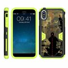 For Apple iPhone X / iPhone 10 Heavy Duty Armor Hybrid Holster Clip Case Green