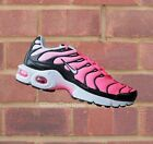 Nike Air Max Plus GS TN/Tuned 1 Black/White/Racer Pink Junior Women Size 5 6 UK
