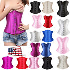 Plus Size Waist Training Underbust Overbust Corset Top Bustier Cincher Shaper