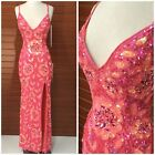 NWT PRIMAVERA COUTURE 1820 CRISS CROSS CORAL PAGENT SEQUINED GOWN $499 AUTENTIC