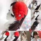 Feather Beads Flower Brooch Pin Decor Hair Headdress Fascinator Wedding Bridal