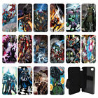DC Marvel superhero comic book Flip Wallet cover case for Apple iPhone No.15