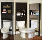 Espresso Bathroom Over the Toilet Shelf Space Saver Wood Freestanding Cabinet