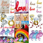 Love Diamond Wedding Ring Foil Balloon Engagement Propose Wedding Party Decor