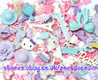 Pink blue purple Kawaii cell phone case resin cabochon DIY decoden deco kit