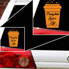 pumpkin spice life coffee fall Halloween  decal car atv bike truck decal.
