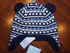 0 3 6 9 12 M Gymboree Navy Blue CUBS & HUGS Trapper Hat Baby Boy nEW NWT