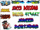 Graffiti Words Spray Art a4 Graphics birthday hpy Edible Cake Topper Wafer Icing