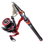 Fishing Rod and Spinning Reel Combos Portable Telescopic Fishing Rod Set Tackle