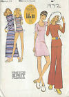 1972 Vintage Sewing Pattern B36-W27 SHORTS, PANTS, DRESS & OVERBLOUSE (R746)
