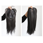 Clip In Human Hair Extensions Women Toupees Hairpiece Replacement Top Closures