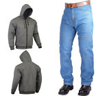 Men's Motorcycle Denim Jeans And  Fleece Hoodie Wears CE Protectors Armours
