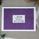 Birthday Guest Book Memory Album- Purple Pebble - Add a Name & Message