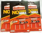 Unibond No More Nails Permanent Double Sided Strips 3kg Tape 20mmx40mm Glue