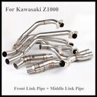 Slip Kawasaki Z1000 Front Middle Mid Link Pipe Header Connect Elbow Tubes 07-17