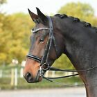 Busse Luxury Patent Weymouth Double Bridle Comfort Headpiece Including Reins
