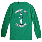 Smiling's My Favorite - STANDING - Funny Christmas LONG SLEEVE T-Shirt