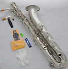Professional Taishan Silver Baritone Eb Sax Low A key 2 necks Germany mouthpiece