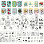 whale template - Nail Art Stamping Plates Flower Toys Panda Image Templates Manicure NICOLE DIARY