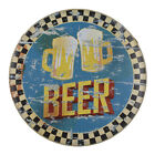 Beer Cocktail Shots Tin Poster Vintage Metal Sign Pub Bar Wall Decor Plaque
