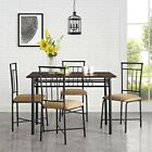 5 Piece Wood Metal Modern Dining Table Set Chairs Dinner Kitchen Dinette Room.