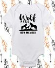 New To the Pack Baby Tops - Funny Wolf Baby Clothes Boy Girl Wolf Nerd Clothes