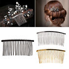 3pcs DIY Blank Metal Hair Clips Wedding Side Comb 20 Teeth Bridal Accessories