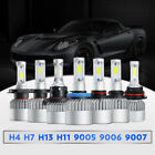 H4 H7 H11 H13 9005 9006 9007 LED headlight kit fog light 1500W Hi/low beam 6000k