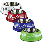 Trixie Stainless Steel Dog Food / Water Bowl with Plastic Holder non-slip 0.45L