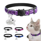 Sequins Puppy Dog Kitten Cat Breakaway Collar  Tag Custom Safety Quick Release
