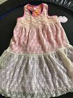 Lipstik Girls Dress. NWT 6X. Lace overlay