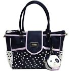 NWT Betsey Johnson Flap Over Dots Diaper Bag 3 Piece Set: Bag, Mat, & Bag Charm