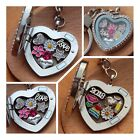 Personalised Floating Heart Locket  keyring - Mum nana nanny - Mother's day GIFT